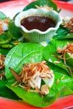 皇家叶子套开胃菜或美味叶子套在特写镜头 免版税库存图片