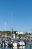 皇家哥特人游艇俱乐部小游艇船坞Langedrag 库存照片
