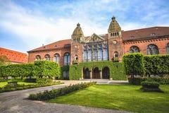 皇家图书馆在哥本哈根,丹麦在夏天 图库摄影