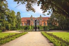 皇家图书馆在哥本哈根,丹麦在夏天 库存照片