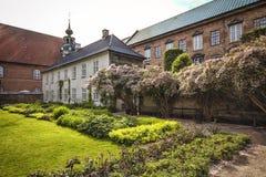 皇家图书馆的庭院在哥本哈根 免版税库存图片