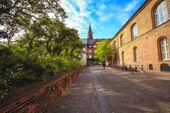 皇家图书馆的庭院在哥本哈根 免版税图库摄影