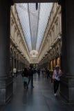 皇家圣于贝尔画廊,布鲁塞尔,比利时 库存照片