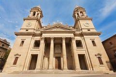 皇家圣母玛丽大教堂在潘普洛纳 库存照片