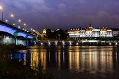 皇家城堡在华沙 库存照片