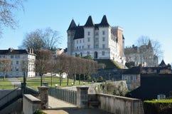 皇家城堡在法国城市波城 库存照片