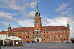 皇家城堡在老镇华沙波兰 库存图片