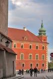 皇家城堡在老镇华沙波兰 免版税库存照片