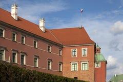 皇家城堡在老镇华沙波兰 免版税库存图片