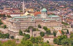 皇家城堡或宫殿在布达佩斯 免版税库存图片