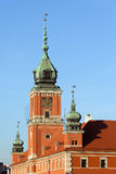 皇家城堡的尖沙咀钟楼在华沙 图库摄影