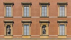 皇家城堡的门面 库存照片