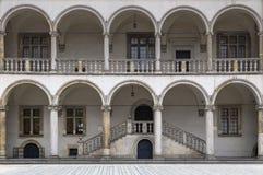 皇家城堡的露台 库存照片