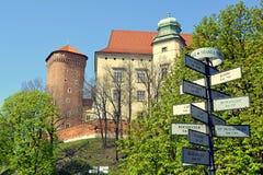 皇家城堡Wawel,克拉科夫,波兰 免版税库存图片