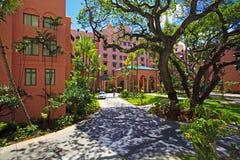 皇家夏威夷的旅馆 库存图片