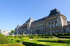皇家宫殿在布鲁塞尔,比利时 库存图片