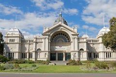 皇家展览馆门面在尼科尔森街上的在M 免版税库存图片
