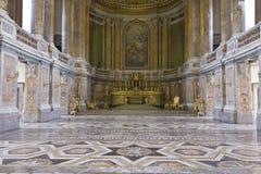 皇家帕勒泰恩教堂,地板细节 免版税库存图片