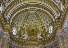 皇家帕勒泰恩教堂,天花板细节 免版税库存照片