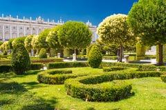 皇家庭院在马德里 免版税库存照片