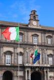 皇家意大利那不勒斯的宫殿 库存照片
