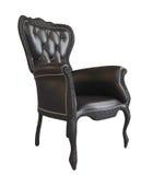 皇家扶手椅子黑色轻松的皮革的办公&# 库存照片