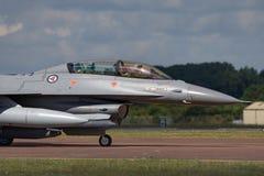 皇家挪威人空军队Luftforsvaret通用动力公司F-16BM战斗的猎鹰战机 库存照片