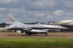 皇家挪威人空军队Luftforsvaret通用动力公司F-16BM战斗的猎鹰战机 图库摄影