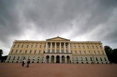 皇家挪威奥斯陆的宫殿 免版税图库摄影