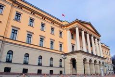 皇家挪威奥斯陆的宫殿 免版税库存图片