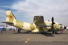 皇家摩洛哥人空军队阿莱尼亚C-27J斯巴达运输航空器 免版税库存图片