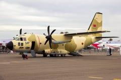 皇家摩洛哥人空军队阿莱尼亚C-27J斯巴达运输航空器 免版税库存照片