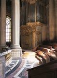 皇家教堂器官凡尔赛宫法国 免版税库存图片