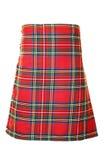皇家斯图尔特苏格兰男用短裙 库存照片