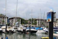皇家普吉岛小游艇船坞 免版税库存图片