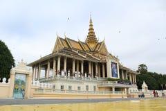 皇家柬埔寨的宫殿 免版税库存图片