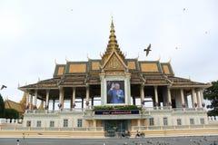 皇家柬埔寨的宫殿 免版税库存照片