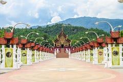 皇家植物群宫殿在Chiangmai 库存照片
