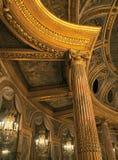 皇家歌剧天花板的细节在凡尔赛宫的 库存图片