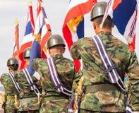 皇家泰国海军军事游行  库存照片