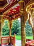 皇家泰国被称呼的亭子,建造为泰国和瑞士之间的关系,在美丽的Denantou公园 图库摄影