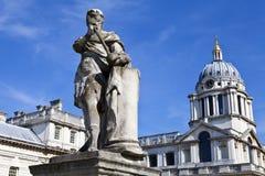 皇家海军学院在格林威治,伦敦 免版税图库摄影