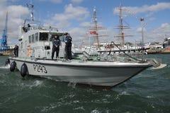 皇家海军巡逻艇 库存照片
