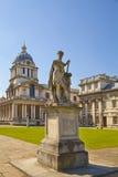 皇家海军教堂和经典之作colonnaden 库存图片