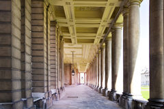 皇家海军教堂和经典之作colonnaden 库存照片