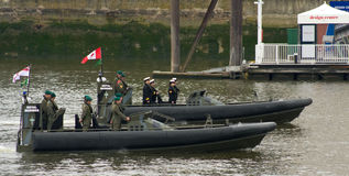 皇家海军陆战队员和加拿大海洋特攻队军团 免版税图库摄影