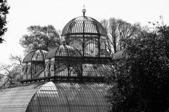 皇家温室在拉埃肯,布鲁塞尔,比利时,组成由一定数量的温室复合体包括刚果温室 库存照片
