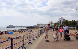 皇家游行海滩伊斯特本英国 库存图片
