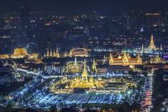 皇家火葬陈列,曼谷,泰国- 11月24 :普密蓬・阿杜德国王嗯的11月24,20的皇家火葬场 免版税库存图片