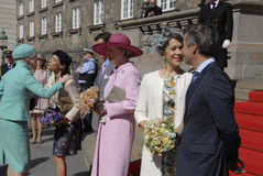 皇家由丹麦的总理招呼 库存照片